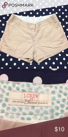 J Crew Shorts 100% Cotton- chino shorts- inseam measures 3 inches- great condition J. Crew Shorts