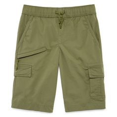 Arizona Woven Cargo Shorts Boys 4-20, Slim & Husky Boys Cargo Shorts, Big Boys, Arizona, Slim, Military Uniforms, April 20, Pants, Olive Green, Husky