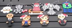 Doctor Who Perler Bead Christmas Ornaments by TriforceInk