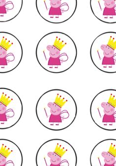 FREE Peppa Pig Birthday Party cupcake toppers, banner, and water bottle label Printables