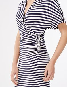 Drapey Fixed Wrap Dress Smart Day Dresses at Boden Smart Day Dresses, Soft Fabrics, Wrap Dress, Short Sleeve Dresses, Outfits, Clothes, Collection, Tops, Fashion