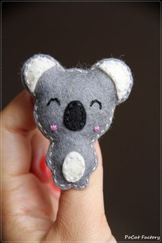 Cute happy felt koala brooch