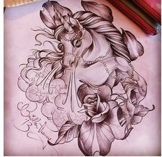 Unicorn tattoo style