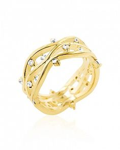 Irina 1.25ct CZ 14k Hamilton Gold Vine Ring for $17.00 at BaubleBox.com