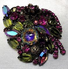 Diamonds & Gemstones 925 Sterling Silver Vintage Real Marcasite & Enamel Pineapple Pin Brooch Vivid And Great In Style Retro, Vintage 1930s-1980s