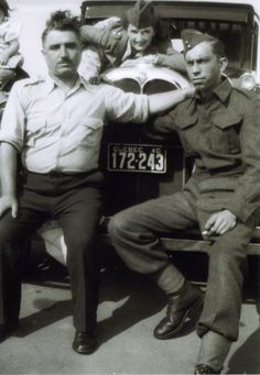 my dad with army buddy joe,from Ville Emard Old Family Photos, My Dad, Dads, Army, Parents, Military, Fathers, Armies