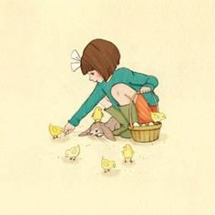 Mandy Sutcliffe: Belle feeds the Chicks