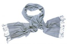 Handgeweven grijze pashmina sjaal, fair trade