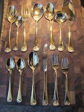 12 Piece Set of 24k Gold Plated Sterling Silver Silverware with Hostess Set - $179.99 & 1847 Rogers Bros. Silverplated Silverware Set Adoration (61) - $75 ...