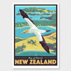 Bay of Islands Art Print (Vintage Travel Series) by Ross Murray Tourism Poster, Travel Posters, Craft Beer Labels, Bay Of Islands, Nz Art, Graphic Art, Graphic Posters, Vintage Travel, Photographic Prints