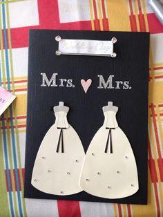 Homemade Mrs. & Mrs. Wedding Card