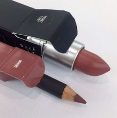 MAC Velvet Teddy Lipstick And Whirl lipliner