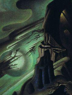 """Night on Bald Mountain"" (detail). Draft by Kay Nielsen for Disney's ""Fantasia"", 1940"