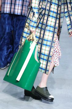 'Guccy' Clutches, Prada's Comic Totes, and More of the Best Bags From Milan Fashion Week #womensbags