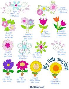 Embroidery Design: Mini Flower Set 2