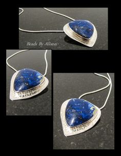 Sodalite sterling silver bezel set pendant. Cabochon by Cabochon - Stones That Rock, silver my Beads By Alison. Pendants - Beads By Alison