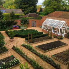 The magical garden at Bighton Grange, with its perfect greenhouse. I'm modeling my own walled garden at my country house on this one! Potager Garden, Veg Garden, Edible Garden, Garden Landscaping, Vegetable Gardening, Organic Gardening, Gardening Tips, Building A Raised Garden, Raised Garden Beds