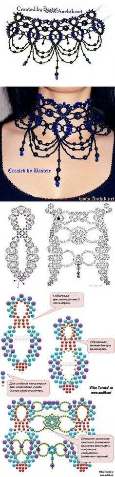 Beading Tutorials, Beading Patterns, Seed Bead Art, Beaded Necklace Patterns, Micro Macramé, Bead Loom Bracelets, Bead Jewellery, Beads And Wire, Bead Crochet