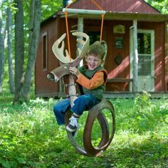 tire swing ideas | Big Buck Tire Swing. @Paulina P Leska-Meehan Galie needs one of these in ...