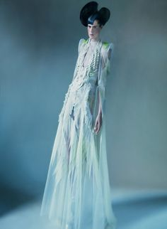 """Vogue Italia / March 2011 """"It's All About Couture""""  Model: Stella Tennant, Photographer: Paolo Roversi"""