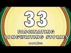 ▶ 33 Fascinating Songwriting Stories - mental_floss on YouTube (Ep. 42) - YouTube