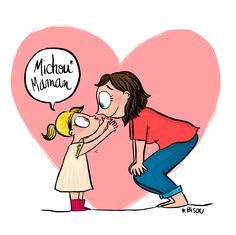 French Illustration, Cute Illustration, Baby Family, Family Love, Mom Qoutes, Matou, Mother And Child, Kids And Parenting, Cute Drawings