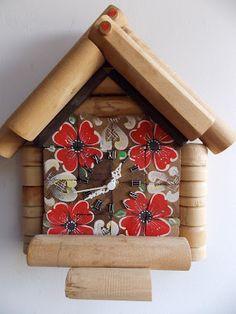 relógio de parede madeira reciclada http://elianeapkroker.blogspot.com.br/