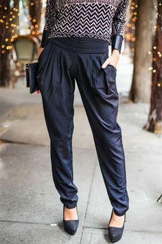 Black Tie Harem Trouser -- 15% off with code: SHOPgrlUTAH @Sherry S Davis