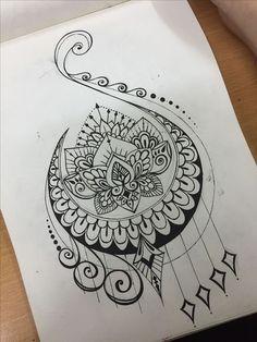 Change mandala to flower and make it look like a sun. Needs bold, bright colors . Change mandala t Kunst Tattoos, Neue Tattoos, Tattoo Drawings, Body Art Tattoos, Cool Tattoos, Art Drawings, Art Sketches, Tattoo Art, Gorgeous Tattoos