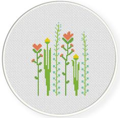 FREE for June 8th 216 Only - Tall Flowers Cross Stitch Pattern