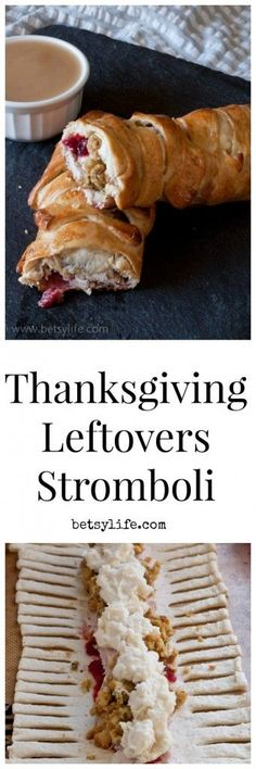 Genius way to use up those leftovers. Thanksgiving Leftovers Stromboli Recipe. Just wrap everything up in a pizza crust and call it dinner. | Betsylife.com