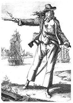 Kvindelige pirater hørte til undtagelserne.Anne Bonny(billedet foroven)
