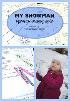 This simple snowman emergent reader is perfect for your kinders! A great addition to your winter curriculum. FREE from The Curriculum Corner. Reading Strategies, Reading Comprehension, Recess Games, Class Games, Teacher Resources, Classroom Resources, Kindergarten Math, Preschool, Emergent Readers