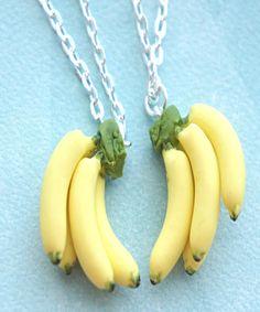 banana bunch friendship necklace