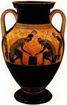 De oud Egyptische samenleving -  grieken en Romeinen (Amfoor door exekias)
