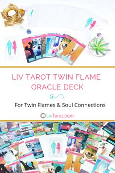 This 80 card oracle deck guides, supports and brings you clarity on your journey to love and union with your twin flame or soul connection. Love Oracle, Mini Reading, Welcome Card, Love Tarot, Oracle Tarot, Soul Connection, Tarot Learning, All Souls, Tarot Readers