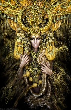 Fantasy fashion by photographer Kirsty Mitchell from her Goddesses of Wonderland series