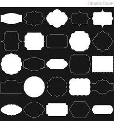White Digital Frames, Classic Frames, Digital Clipart, Digital Frame, Clipart Frames, Frames Clipart, Basic Frames, Scrapbooking frames  - 1 Zip
