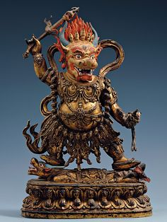 Yama ☸️ the god of death. Yama (यम) or Yamarāja (यमराज) is the god of death in mythology. Yama is said to have been the first mortal who died. By virtue of precedence, he became the ruler of the departed. Tibetan Buddhism, Buddhist Art, Tibet Art, Crane, Oriental, Ancient Art, Indian Art, Mantra, Ruler