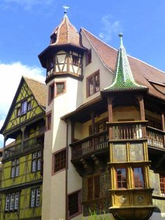 The architecture in Colmar, France is particularly beautiful