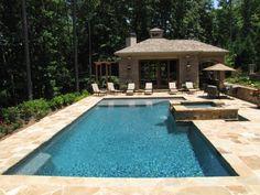 Atlanta Pool Builder | Geometric In Ground Luxury Swimming Pool Photos