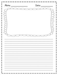 image relating to Printable Writing Paper With Picture Box titled Major Crafting Paper With Think about Box Pdf - Floss Papers