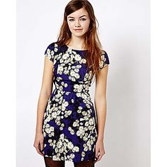 Queen & Co Causal Floral Print Dress - USD $ 11.99