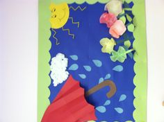 April showers bring May flowers - spring bulletin board