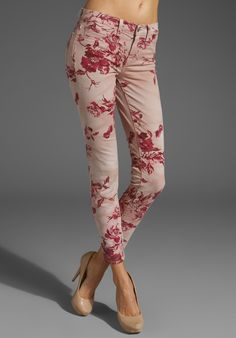 J Brand Floral Skinny in Twisted Seashell