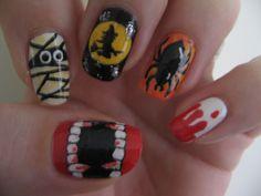 Halloween Nails. <3