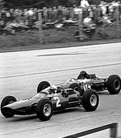 John Surtees wins the 1964 Italian Grand Prix for Ferrari.