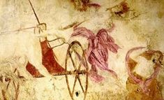 """""""The Abduction of Persephone"""" - wall painting in the Tomb of Persephone in Vergina, Macedonia,Greece Ancient Greek Art, Ancient Rome, Ancient Greece, Ancient History, Zeus And Hera, Hades And Persephone, Classical Mythology, Art Google, Archaeology"""
