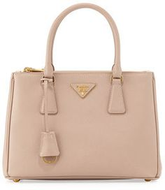 Shop for Saffiano Lux Small Double-Zip Tote Bag be3cd72621536