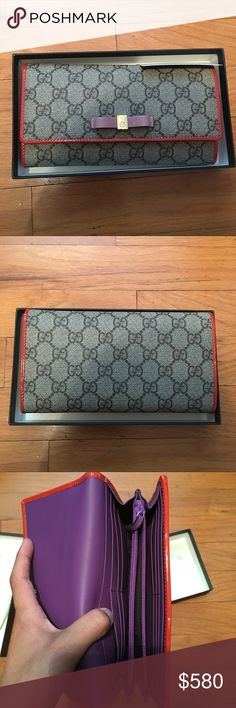 Authentic Gucci Wallet NWT never used Gucci wallet. Selling it because it's not my style. Still has Bloomingdales tag in it. Gucci Bags Wallets